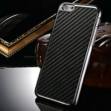 "For iPhone 6 4.7"" Plus 5.5"" Slim Matte Carbon Fiber Leather Back Case Cover Skin"