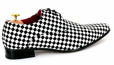 Mens Shoes Italian Vintage Classic 1920s Dance Party Wedding Fancy Dress Size