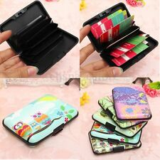Portafogli Carte Credito Gufo Wallet ID Bank Card Holder Pocket Case Plastica