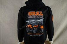 NEW Burnt Orange Gear Up Ural Motorcycle Black Cotton Sweatshirt M-3XL