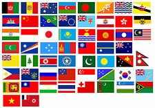 Asia / Australasia Country Flags CAR ART STICKERS 90mm x 65mm * Buy 2 get 1 FREE