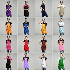 16Colors Plain Apron Pocket Chefs Butchers Home Kitchen Cooking Craft Baking