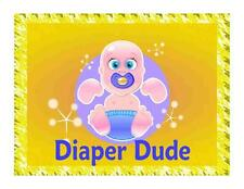 Custom Made T Shirt Cute Diaper Dude Funny Baby Toddler Adult Pacifier Infant