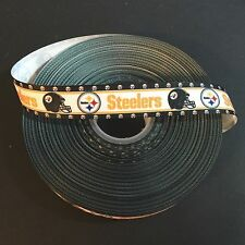 "7/8"" Pittsburgh Steelers Border Grosgrain Ribbon by the Yard (USA SELLER!)"