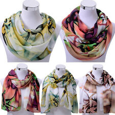 Fashion Women Ladies Chiffon Scarf Soft Shawl Wrap Neck Warm Stole Scarves