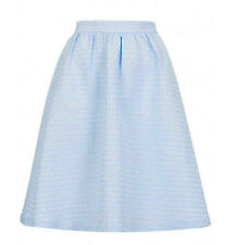 TOPSHOP NEW BABY BLUE TEXTURED PASTEL A-LINE MIDI SKIRT RRP £45 - SIZES 4-16
