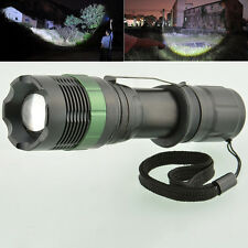 CREE XM-L Q5/T6 LED Torch Adjustable Zoom Flashlight Light Focus Camping