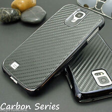 NEW CARBON FIBRE LOOK CHROME EDGE HARD CASE FOR VARIOUS SMART MOBILE PHONES