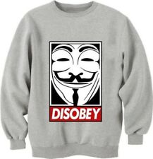 brand new disobey v for vendetta unisex long sleeve cotton sweatshirt obey swag