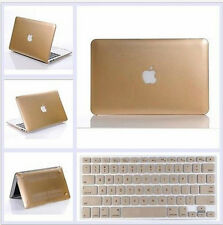"""Champagne Gold Hard Case Keyboard Cover Skin For Macbook AIR 11/13"""" PRO 13/15"""""""