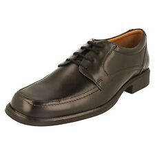 MENS CLARKS BLACK LEATHER FORMAL SHOES STYLE - HOLD SPRING