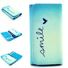 Smile universal Leather Wallet Case Cover For Sony/LG a variety of mobile phones