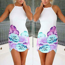 Sexy Ladies Floral Party Cocktail Evening Bandage Bodycon Short Dress Size 6-12