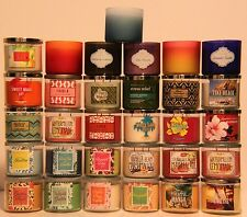 Bath and Body Works *You Pick*  Scented 3 Wick Candle Buy 2 to Get Free Shipping
