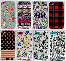 Heavy Duty Hybrid Rugged Hard Case Cover For Apple iPhone 5C Floral Chevron Hot