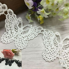 2 Yard Delicate Polyester Embroidered Butterfly Lace Sewing Trim Dress DIY Craft