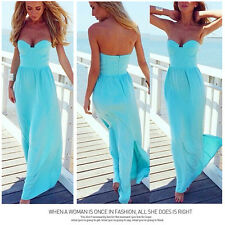 2015 New Lady/Sexy Women Strapless Evening Party Club Cocktail Beach Long Dress