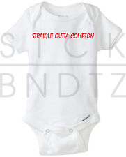 STRAIGHT OUTTA COMPTON NWA TODDLER BABY T-SHIRT FUNNY CUTE SHOWER GERBER ONESIE