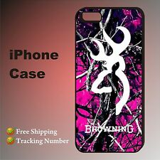 Pink Browning Leaf Camo Pattern New Case Cover iPhone 4,4s,5,5s,5c,6,6+