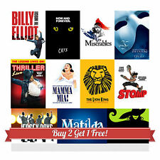Musical Theatre Poster from West End / Broadway A4 Photo Art Print Wall Decor