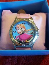 CHILDREN'S FROZEN WATCH LIGHT PINK  ANA  & OTHER CHARACTERS ON THE LEATHER