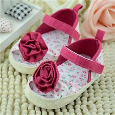 Infant Toddler Baby Girls Soft Sole Flower Sandals Summer Shoes 0 to18 Months