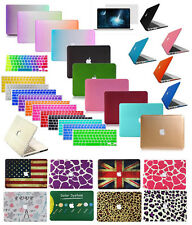 "Laptop Rubberized Hard Case+KB Cover+LCD Film for MacBook Air11""13""Pro13""15""inch"