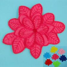 Flower Floral Iron on Sew Patch Embroidered Badge Applique Plant Nature Biker