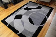 1052 Gray Black 5x7, 8x10 Area rugs Carpet Contemporary New modern