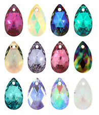 Genuine SWAROVSKI 6106 Pear Shape Teardrop Crystal Pendants* More Colors & Sizes