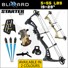 BLIZZARD 5 - 55 LBS STARTER Compound Bow Kit Archery Bow Hunting