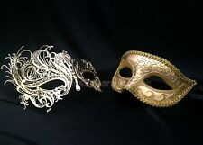 Swan Couple Masquerade Mask Costume Steampunk School Prom Wedding Bachelor Party