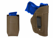 NEW Barsony Olive Drab Leather IWB Holster + Mag Pouch for HK, Kahr Comp 9mm 40