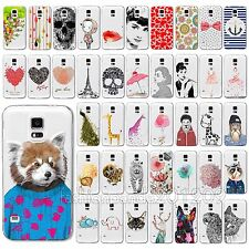 New Painted Cute Animal Design Soft Case Cover For Samsung S4 S5 Note 4 S6 Edge