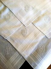 White Embroidery Initial Monogrammed Letter Men's Cotton Hanky A D G J K P R S