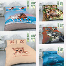 New 3D Bedding Set Panel Print Animal Design Duvet Cover with Pillow Case Luxury