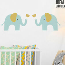 Elephant stencil kids room nursery wall decor reusable painting Ideal Stencils