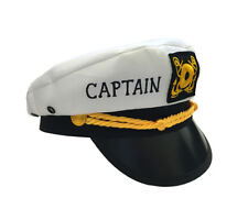 CAPTAIN'S HAT NAUTICAL ADULT or CHILD PERSONALIZED FREE ADJUSTABLE MEN AND WOMEN