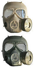 Airsoft M04 Gas Mask Style Protection Mask With Fan 6 point straps in Tan&Green