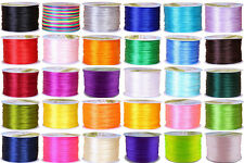 Hot 1.5mm Nylon Chinese Knotting Cord Shamballa Braided Rattail Kumihimo String
