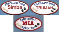 PERSONALIZED --  therapy dog - emotional support - service dog vest patch
