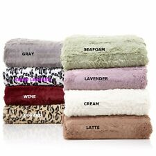 Concierge Collection Long Faux Fur Soft Warm Plush Bed Blanket NEW FREE SHIPPING