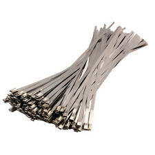 """10/100 PCS 11.8"""" Stainless Steel Ball Lock Zip Ties Straps Wrap Bands Cable New"""