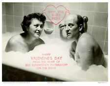 PHOTO: VALENTINES DAY CARD SHOWING JULIA AND PAUL CHILD IN A BUBBLE BATH 1952