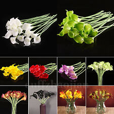 Beauty Love Calla Lily Real Touch Latex Bouquets Wedding Home Bouquet Flower