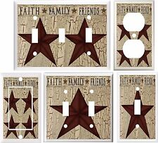 COUNTRY BARN STAR FAITH FAMILY FRIENDS LIGHT SWITCH COVER PLATE OR OUTLET V782