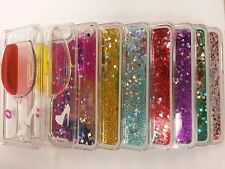 Glitter Stars Sequin Clear Hard Bling Case Liquid Water Fits iPhone 4S 5 5S 5C 6