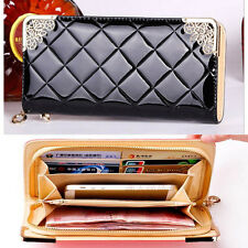 2015 new fashion Gradient long women purse wallet card holder phone handbag gift