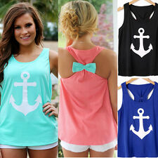 New Womens Summer Vest Top Sleeveless Blouse Casual Tank Tops T-Shirt Blouse