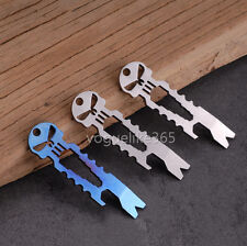 Titanium Ti Keychain Beer Opener EDC Multi-functional Pocket Survival Tool